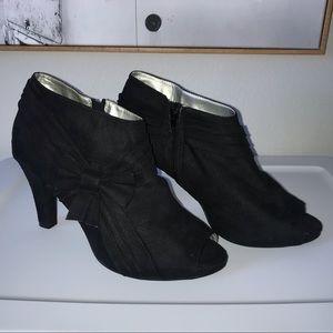Lane Bryant black peep toe heel booties size 11